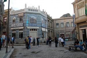 "One of the main street of the strudio of ""Globo"""