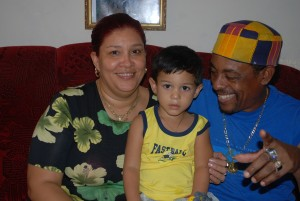 Candido Fabre and his family in his house in Manzanillo, Cuba