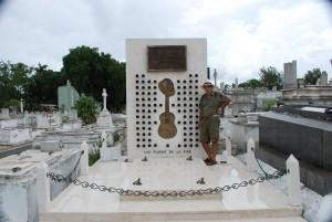The grave of Compay segundo en Santiago de Cuba.